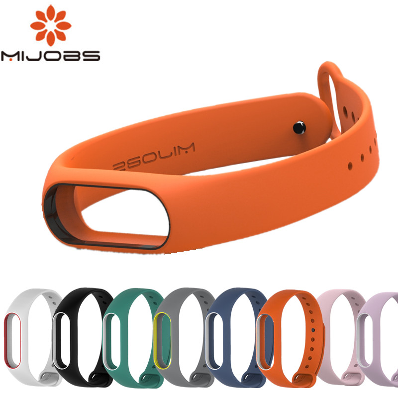 Mijobs Mi Band 2 Strap Silicone Bracelet Wristband Smart Band Accessories wrist Strap and Screen Protector for xiaomi mi band 2