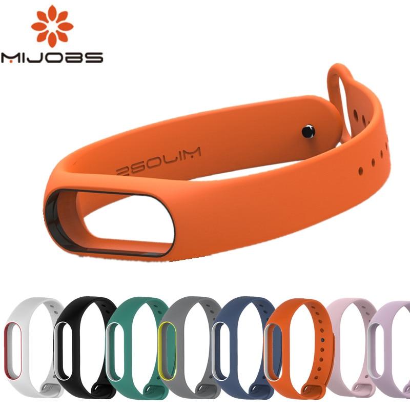Mijobs Mi Band 2 Strap Silicone Bracelet Wristband Smart Band Accessories Wrist Strap And Screen Protector For Xiaomi Mi Band 2