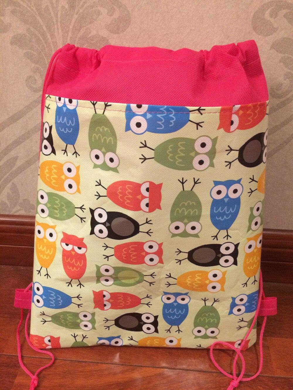 12 шт./лот животных Сова для детей swimm разное питания Футбол школьная сумка рюкзак для обуви сумки для обуви для девочек мальчиков Вечерние