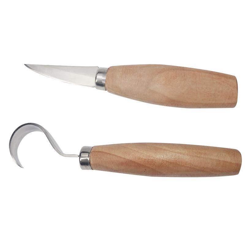 2PCS/Set Stainless Steel Woodcarving Cutter Woodwork Sculptural DIY Wood Handle Spoon Carving Knife Woodcutting Tools цены