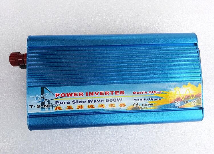 цена на Off Grid Pure Sine Wave Inverter 24V 220V 500W Solar Inverter Car Power Inverter 12V/24V DC to 110V/120V/220V/240V AC Converter