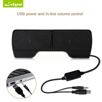 USB Stereo Speakers Line Controller Hot Sale 1 Pair Mini Portable Soundbar For Laptop Notebook PC