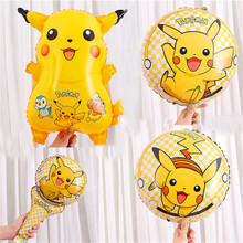 flying aluminum balloon helium ballons decoration birthday party theme decorations girl toys inflatable pikachu balloons цена