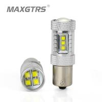 2x High Power S25 1156 BAU15S LED CREE Chip DRL 80W LED Bulbs Car Reverse Backup
