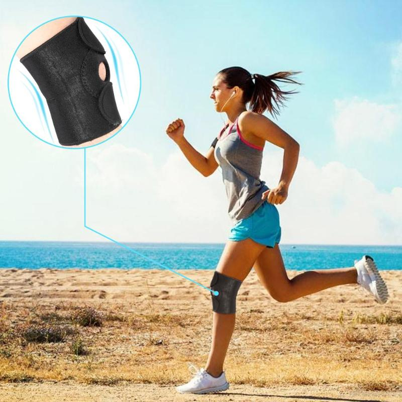 1pc Adjustable Elastic Breathable Sports Knee Pad Brace for Running Basketball Support Safety Guard Strap Protector Pads