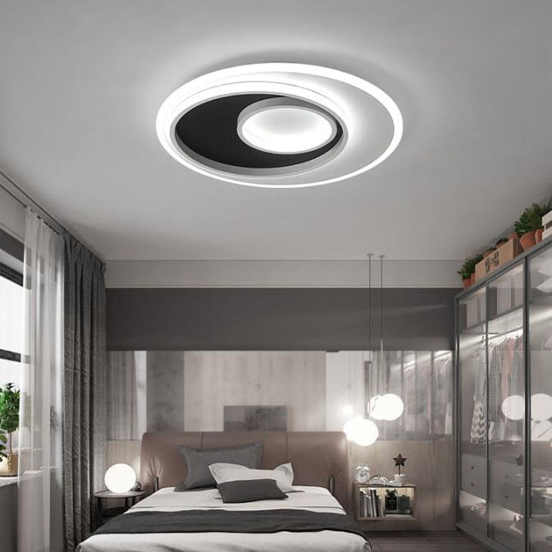 Led Ceiling Light Surface Mounted Lamp Two Circle thin Acrylic With Metal Frame 110V 220V Home Light New Style new wall mounted neon effect acrylic poster frame led light box