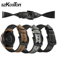20mm 22mm Watch Band for Samsung Galaxy Watch Stylish Durable Leather Silicone Watch Strap for Samsung Galaxy Watch 42 46 mm