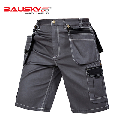 New High quality men's summer work short workwear multi pockets short work pant work short trousers free shipping 4