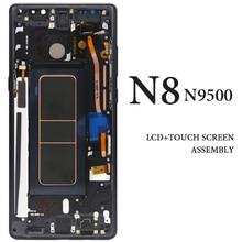 "6.3 ""untuk Samsung Note8 N9500 N950F N900D N900DS N950U LCD dengan Bingkai AMOLED Digitizer Tampilan Suku Cadang Pengganti Sentuh Perakitan"