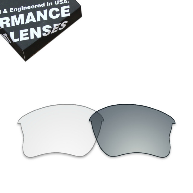 8169dbfa6b ToughAsNails Replacement Lenses for Oakley Flak Jacket XLJ Sunglasses  Photochromic Clear (Lens Only)