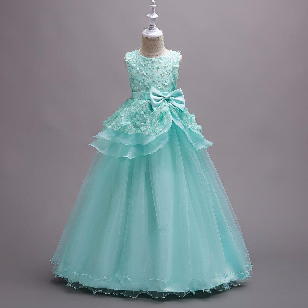 Brand Kids Princess Dress Teens Girls Wedding Dress Kids Flower Girl ...
