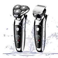 2 in 1 kemei electric shaver washable 3D electric razor rechargeable trimmer face men shaving machine grooming kit beard shaver