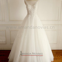 AMANDA NOVIAS Vestidos De Novia Lace Beading Wedding Dress