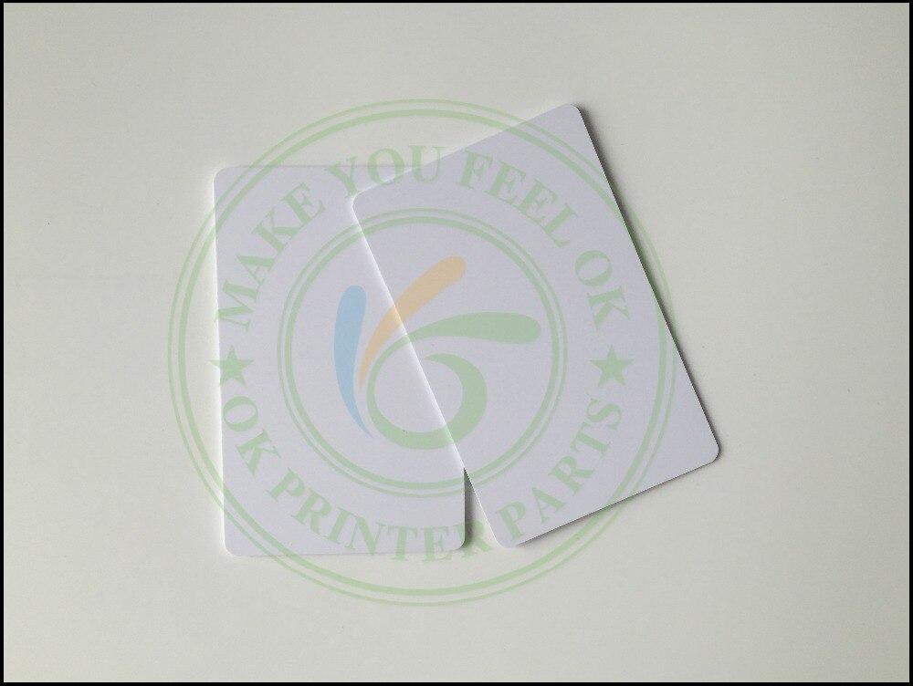bilder für 230 STÜCK Weiße Leere inkjet printable PVC Wasserdicht kunststoff ID visitenkarte kein chip für Epson für Canon Inkjet drucker