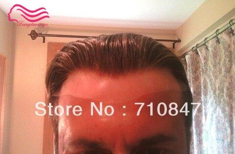 Laço suíço ou Francês laço Peruca masculina, sistema de cabelo Para Homens Branqueada e minúsculos Knots Cabelo substituição frete grátis