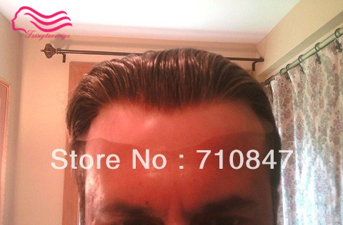 New arrival  , 100% brazilian remy hair all french lace  hair replacement  men toupee