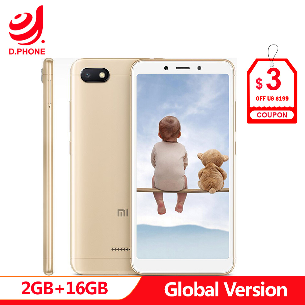 Auf Lager Ursprüngliche Globale Version Xiaomi Redmi 6A 2 GB 16 GB 5,45