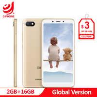 In Stock Original Global Version Xiaomi Redmi 6A 2GB 16GB 5.45 18:9 Full Screen MTK Helio A22 Quad Core 13MP Camera Cellphone