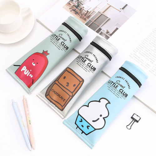 Hot Pencil Case Stationery Office & School Supplies Makeup Bags Kids Gift 1pcs