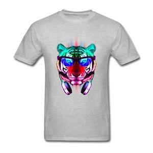Одежда в стиле хип-хоп; Крутые вечерние футболки с короткими рукавами и рисунком кота; Hombre; Футболки с вырезом лодочкой и головой тигра; Заба...