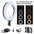 """Lightdow 18 """"Zoll LD 448 Ring Licht Fotografie Video Licht 65 watt 2700 karat 5500 karat Dimmbare LED Fotografische beleuchtung mit Tragen Tasche-in Fotolampen aus Verbraucherelektronik bei"""