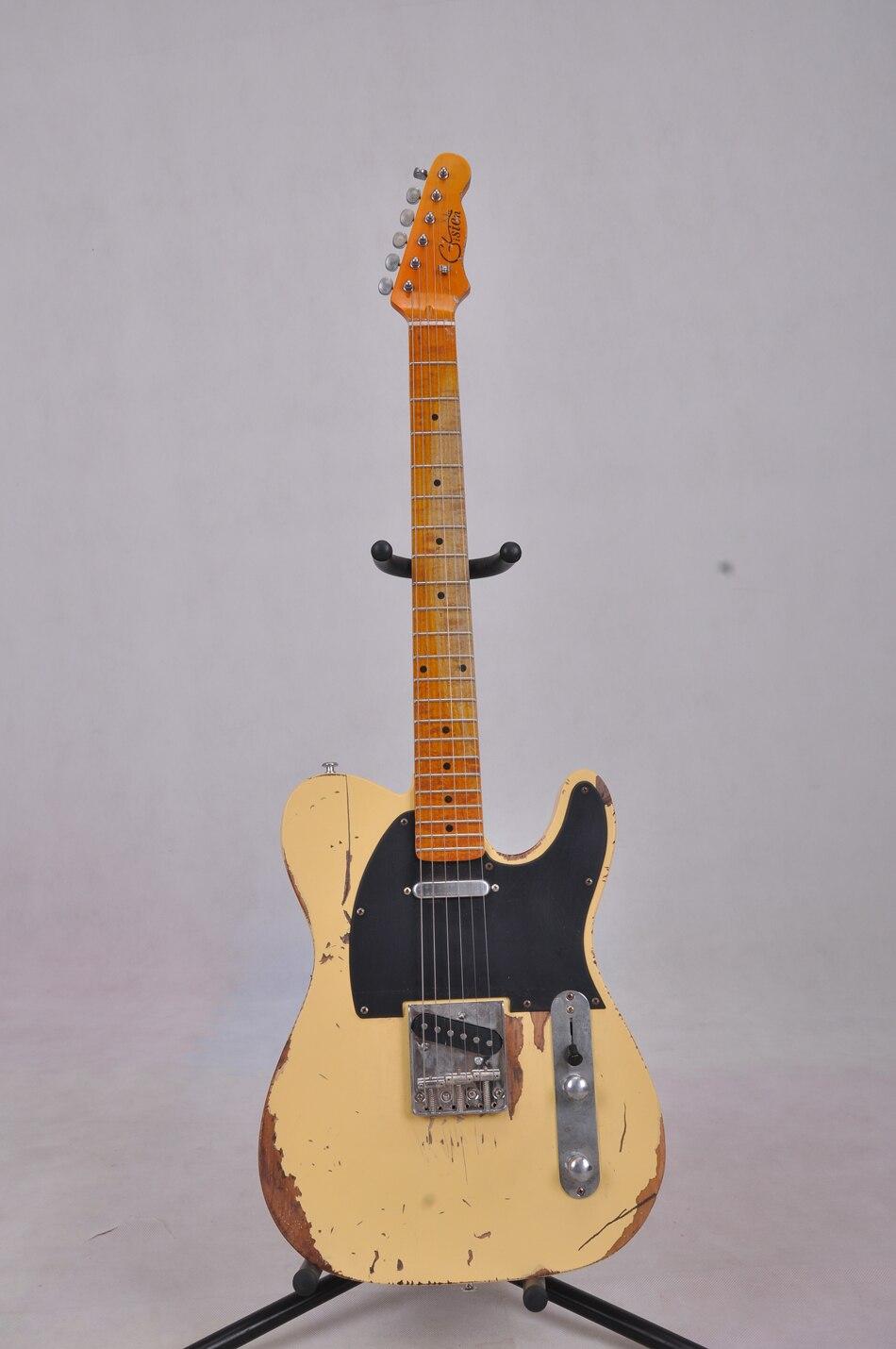Gisten fabrique toutes sortes de guitare électrique, corps en aulne, érable touche, vintage guitare, guitare électrique, visiter le