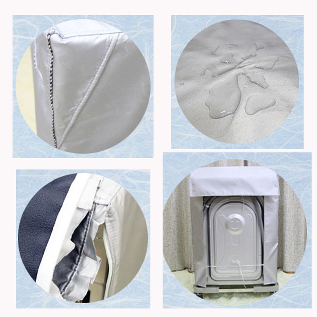 Washing Machine Cover Waterproof Case Home Sunscreen Laundry Dryer Polyester Silver Coating Automatic Roller Dustproof