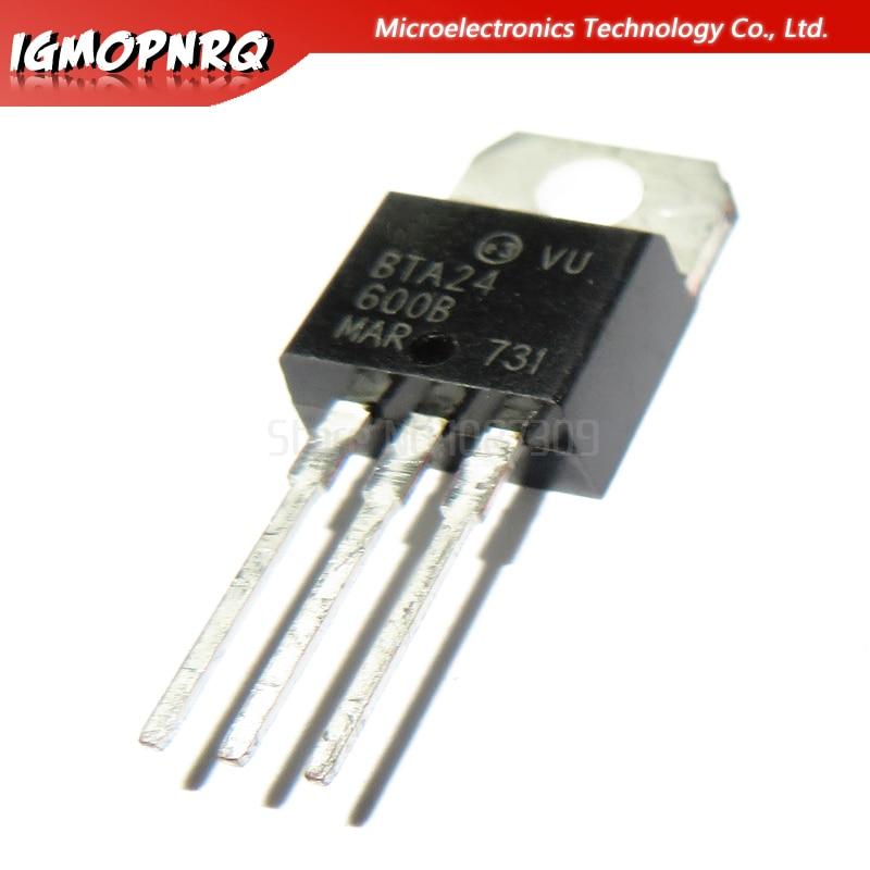 10pcs Free Shipping BTA24-600B BTA24-600 BTA24 Triacs 25 Amp 600 Volt   TO-220 New Original