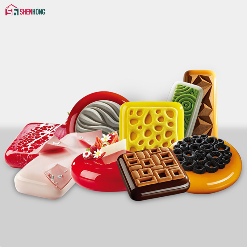 SHENHONG Various Shapes Mousse Cake Mold Decorating Silicone Mould Dessert Flower Pan Chocolate Bakeware