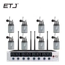 ETJ Marka 8 Makinemizde Verici Kablosuz Mikrofon Bodypack Kulaklık Yaka Mikrofonu U-802