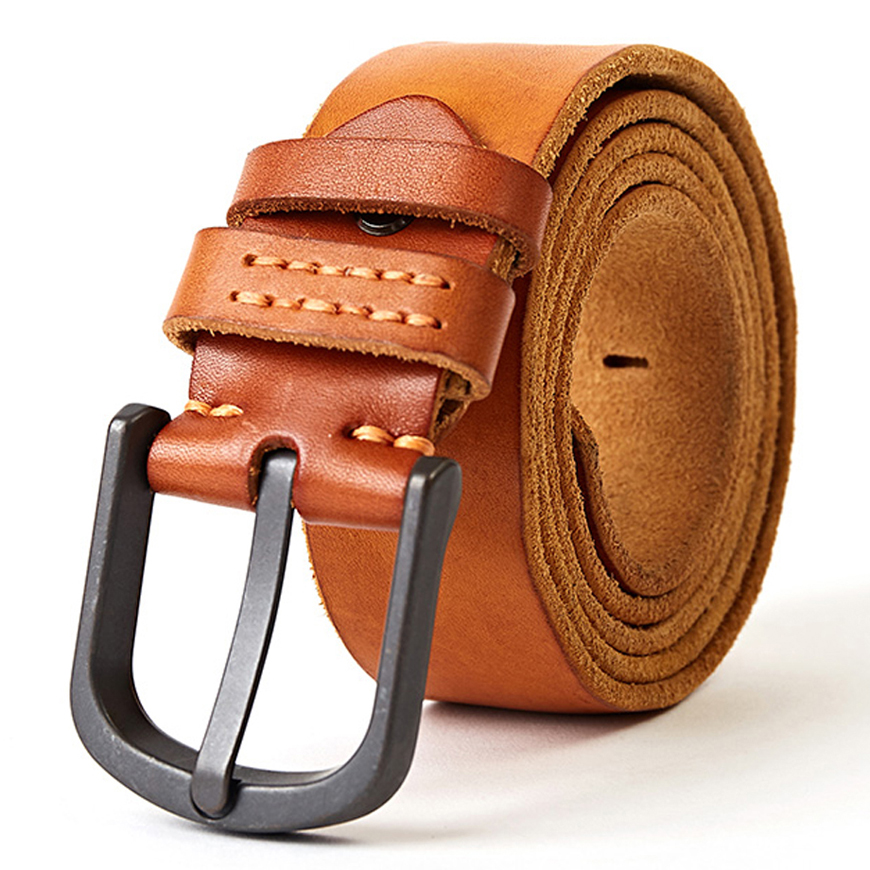 """1 1//2/"""" with FREE SHIPPING MENS HEAVY DUTY 100 /% GENIUNE LEATHER HANDMADE BELTS"""