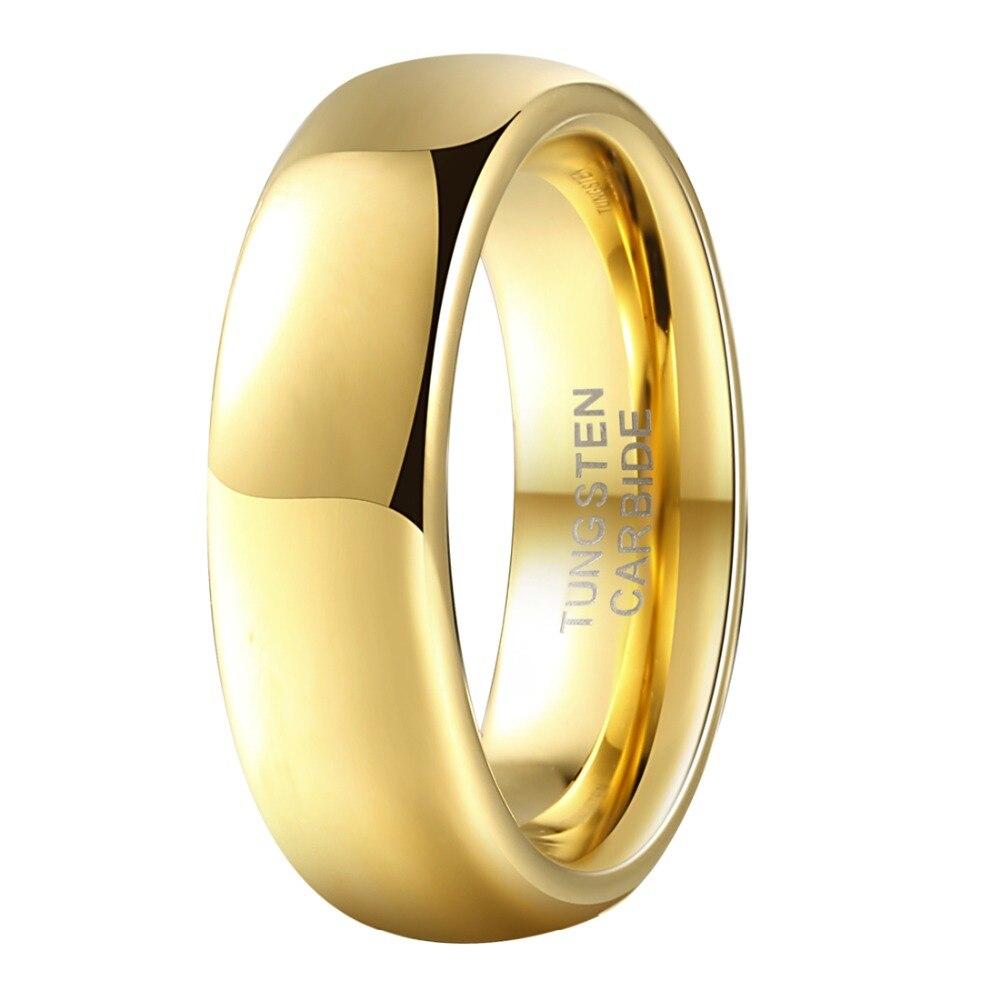 Tungsten Carbide K Gold Ring