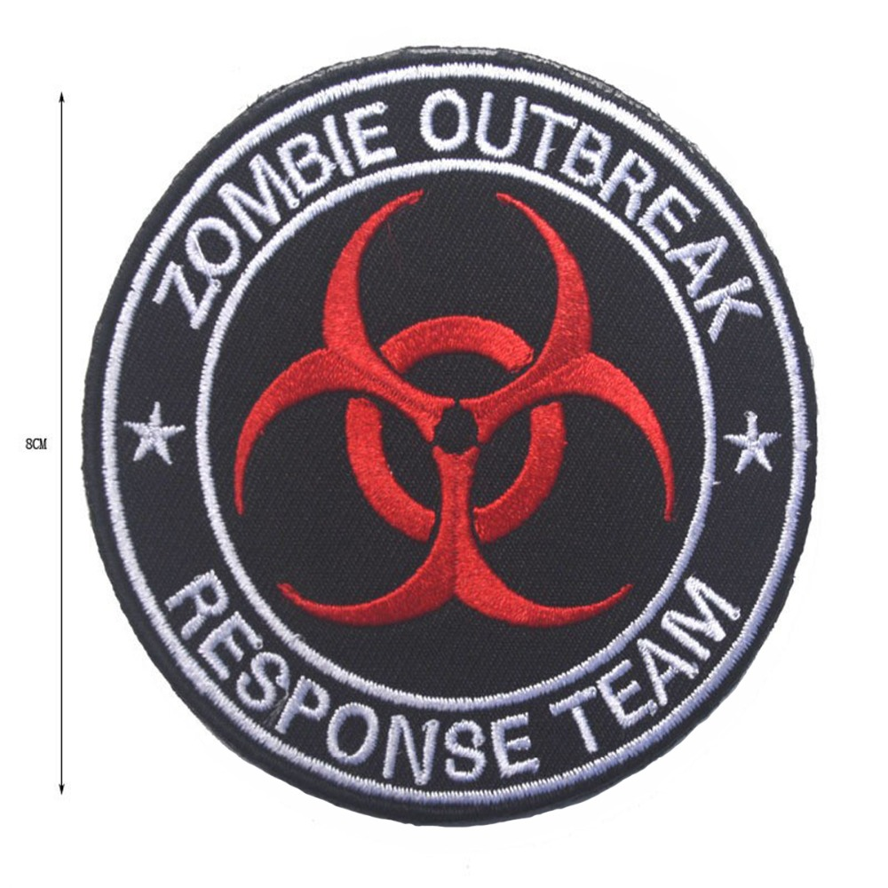 Zombie outbreak response team military patch movies custom logo patches for jacket clothing decoration (4)