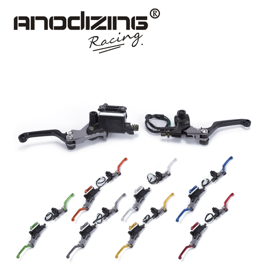 CNC 7/8 22mm Universal Motocross Dirt Bike Brake Clutch Lever For Honda XR230 MOTARD 2005-2009 Hydraulic Brake Lever Pit bike motocross mx dirt bike 22mm 7 8 handlebar cnc short stunt clutch lever perch assembly 6 color options