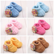 0-1 Years Baby shoes Winter Spring Autumn Soft Coral Velvet  Solid toddler shoes baby indoor shoes 6 Colors