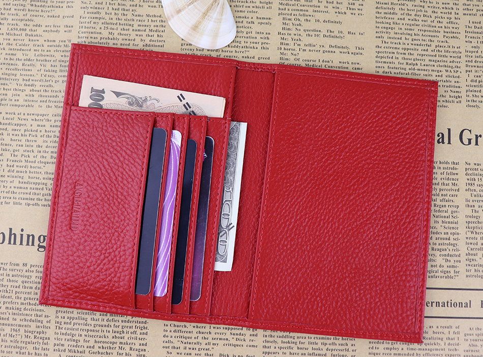 Genuine Leather Russian Passport Cover ID Business Card Holder ...