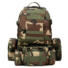 55L Outdoor camo 4 in 1 Molle 600D Military Tactical Backpack Camping hiking hunting climbing Rucksack mountaineering men bags