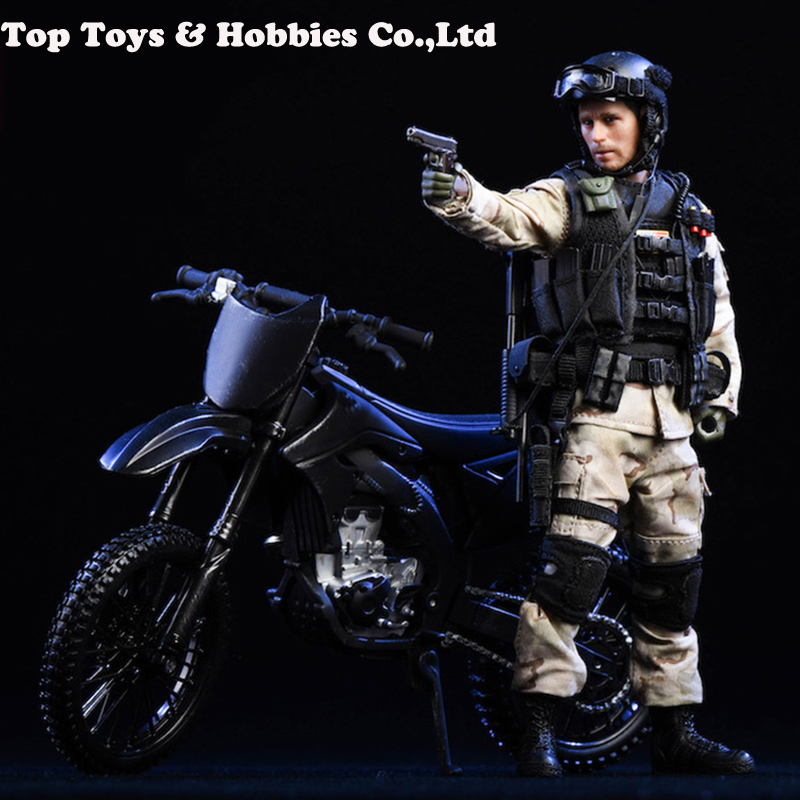 TYSTOYS 1 12 Off road Motorcycle 18DT05 Mini Car Model Soldier NO Figure body in Action Toy Figures from Toys Hobbies