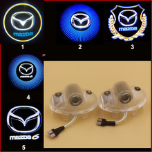 promotion HD car door light mazda 8 CX-9 MAZDA6 ATENZA logo LED Courtesy Door Logo Projector 3d Ghost Shadow Light no drill
