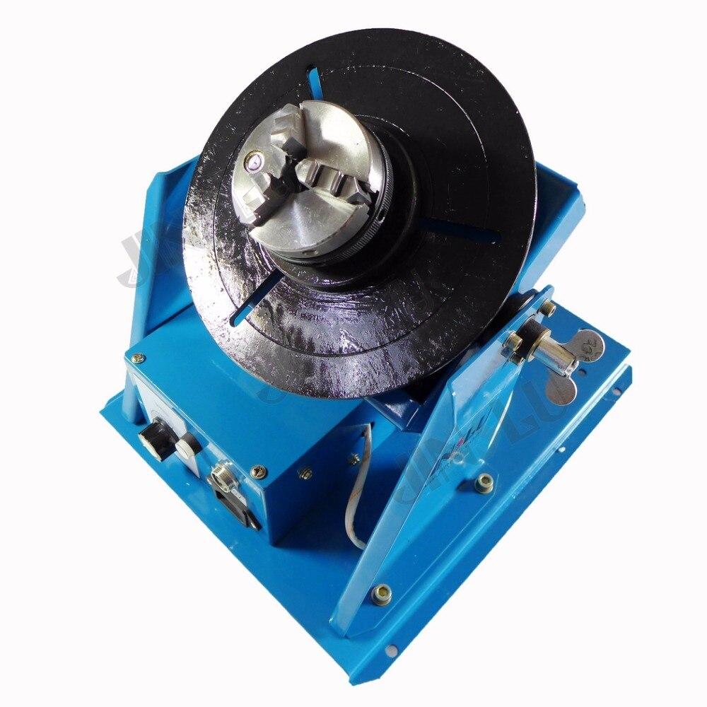 цена на 220V 10KG BY-10 Mini Welding Turntable Welding Positioner With K01-63 3 Jaws Chucks