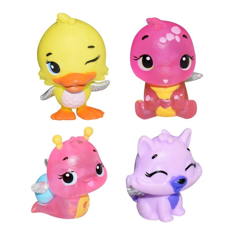 4 Pcs/set Cute Cartoon Animal Model Cute Dolls Baby Children Toy Kids Christmas Gifts