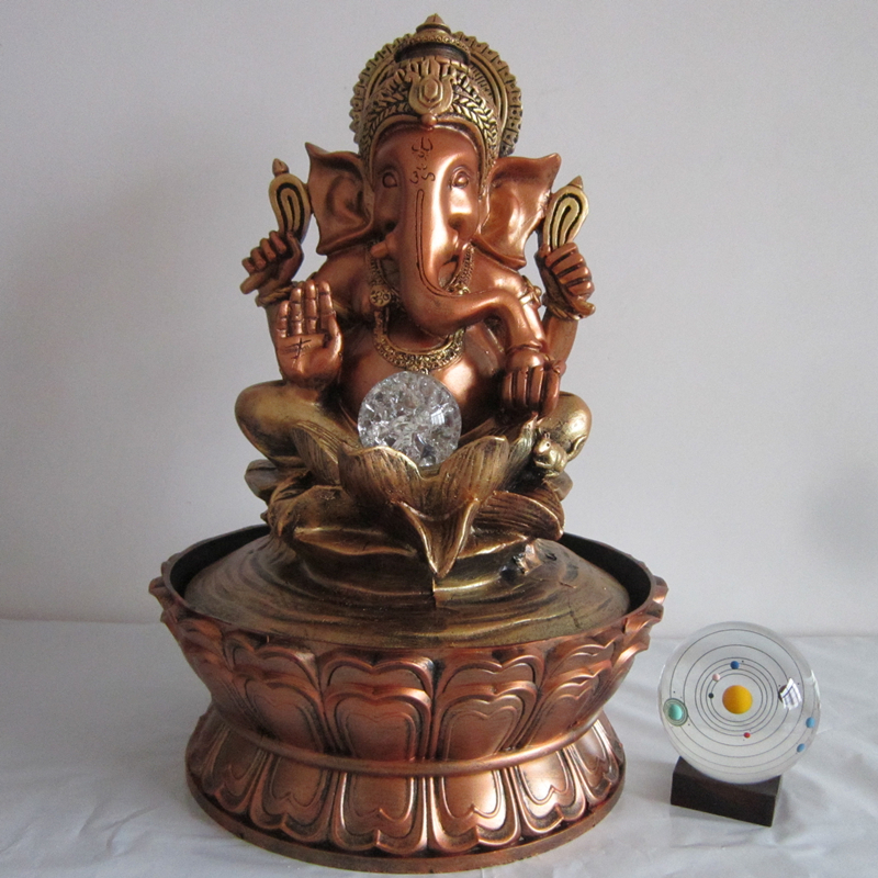 43cm Ganesha Water Fountain Decorative Fengshui Craft Creative Desktop  Ornament Indoor Air Humidity New Year Home Decoration