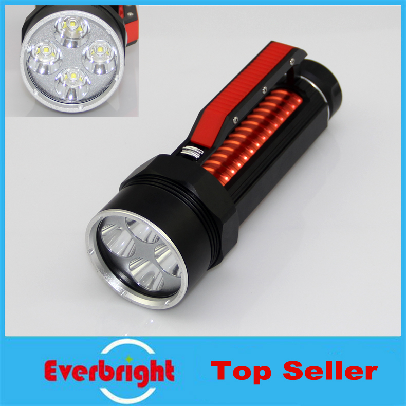 LUSTEFIRE DV400 4* CREE L2 T6 LED 3800 LM Strong Light diving flashlight led torch underwater lamp