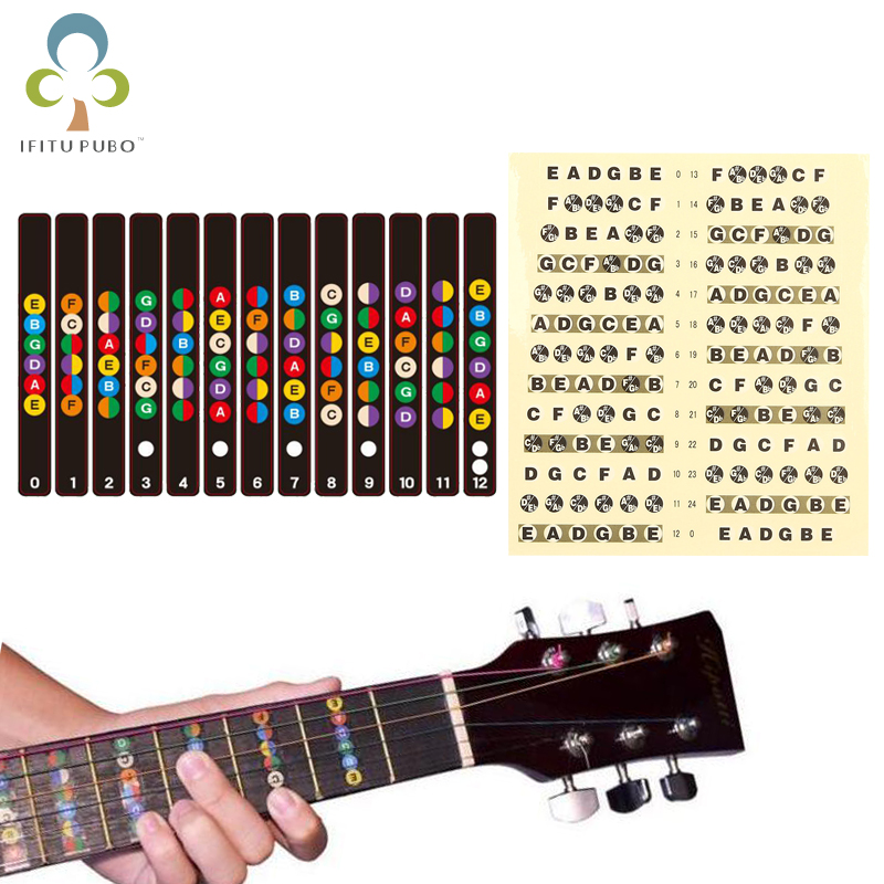 Apprehensive Guitar Neck Fretboard Note Map Fret Sticker Lables Decals Learn Beginner Fret Scale Fingerboard Electric Guitarra Sticker Gyh Stringed Instruments