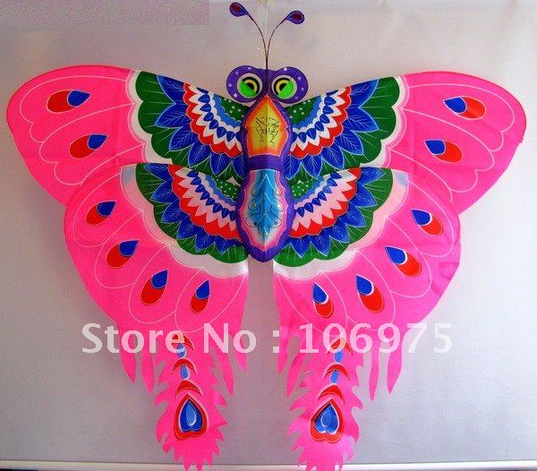 3 Pcs X Angel Butterfly Kite (Red / Pink / Purple ) Flying Toy Wall