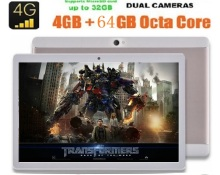 2017 Nueva 10 pulgadas 4G tablet pc Android 6.0 1280×800 Núcleo Octa 8.0MP 4 GB RAM 64 GB ROM dual sim IPS Bluetooth Wifi GPS Tabletas 10.1