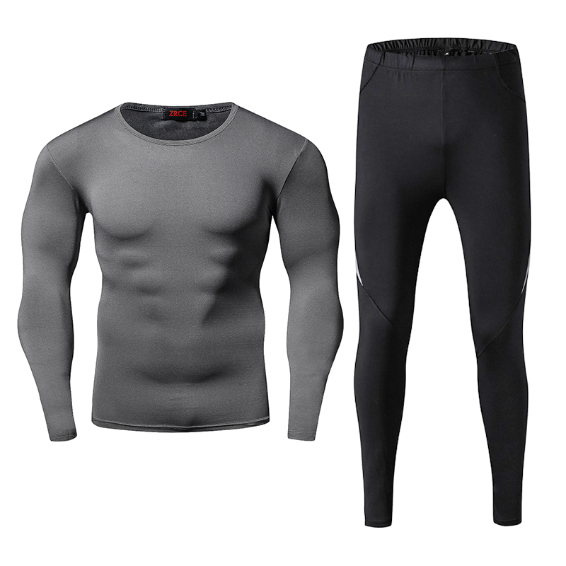 ZRCE Men Women Solid Fitness Causal Full Tracksuits Plus Suze O-neck Compression Suits Bodybuilding Male S-2XL Breathable Sets