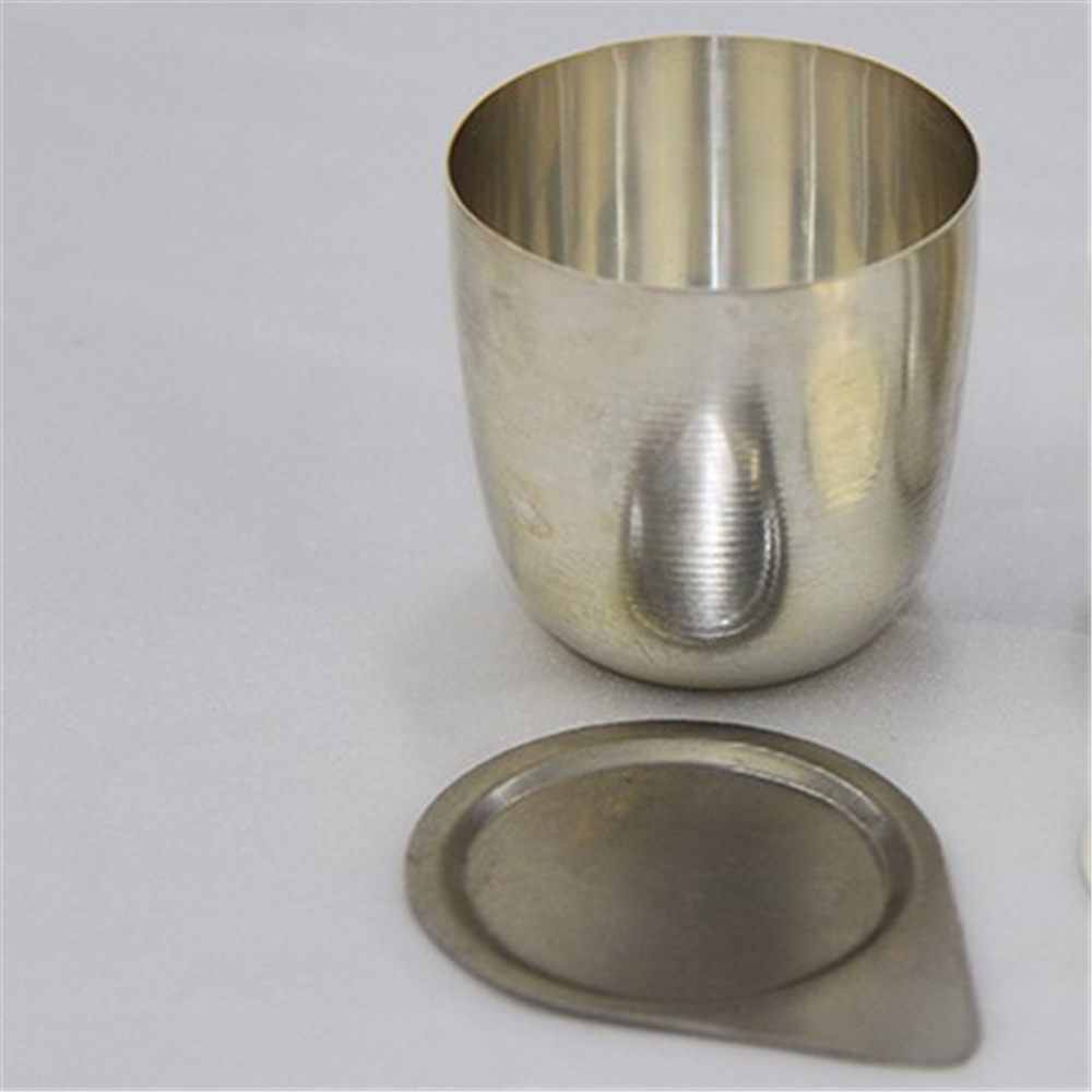 50ml silver crucible made by silver mine cup holder lab supplies 50ml nickel crucible no cover good quality