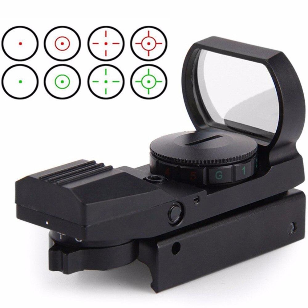 Point rouge 20mm 11mm Ferroviaire Lunette de Chasse Optique Portée Tactique HolographicMro Sight Reflex 4 Réticule Tactique red dot portée