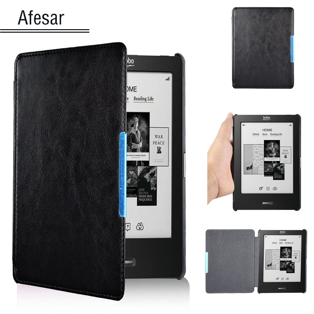 Folio Ultra slim portable book Cover Case for Rakuten Kobo Touch eReader ebook cover N905A B C Flip leather Case + stylus pen